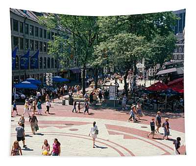 Tourists In A Market, Faneuil Hall Tapestry