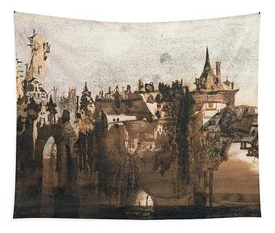 Town With A Broken Bridge Tapestry