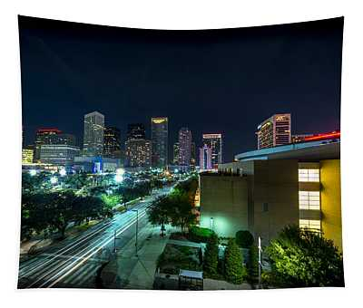 Toyota Center And Downtown Houston Tapestry