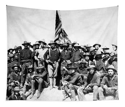 Tr And The Rough Riders Tapestry