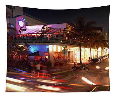 Traffic Along Ocean Drive, South Beach Tapestry