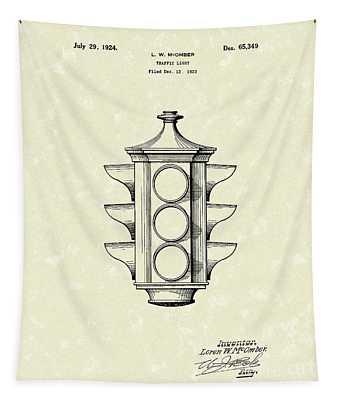 Traffic Light 1924 Patent Art Tapestry by Prior Art Design