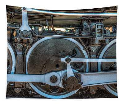 Train Wheels Tapestry