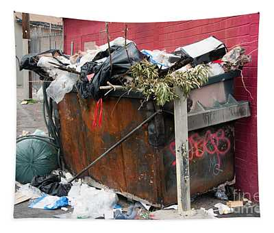 Trash Dumpster In Slums Tapestry