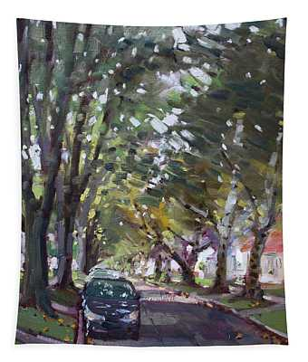 Tree Covered 81st Street Lasalle Tapestry