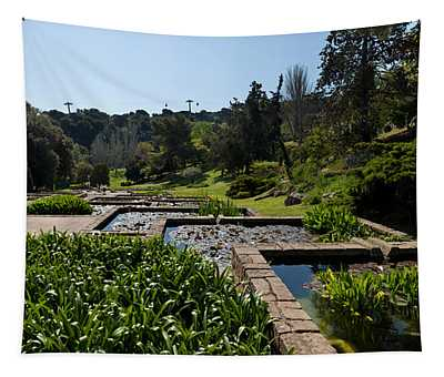 Trees And Aquatic Plants In The Garden Tapestry