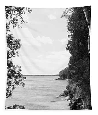 Trees At The Lakeside, Cave Point Tapestry
