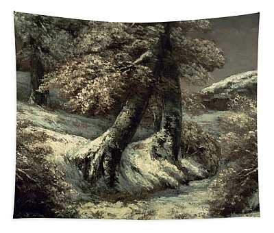 Trees In The Snow Tapestry
