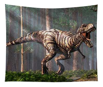 Trex In The Forest Tapestry