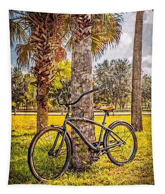 Tropical Bicycle Tapestry