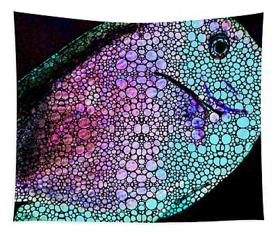 Tropical Fish 4 -  Stone Rock'd Art By Sharon Cummings Tapestry