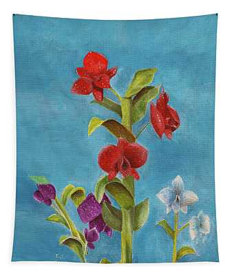 Tropical Flower Tapestry