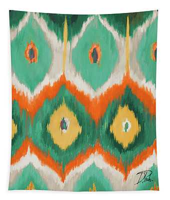 Tropical Ikat II Tapestry