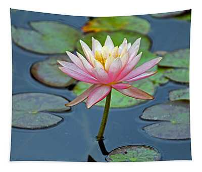 Tropical Pink Lily Tapestry