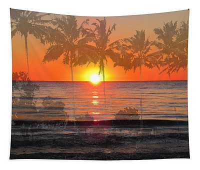 Tropical Spirits - Palm Tree Art By Sharon Cummings Tapestry