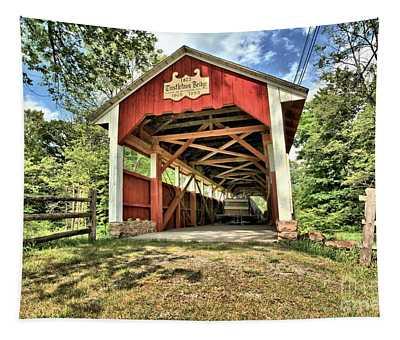 Trostle Town Covered Bridge Tapestry
