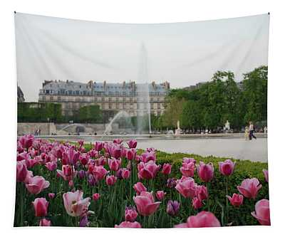 Tuileries Garden In Bloom Tapestry