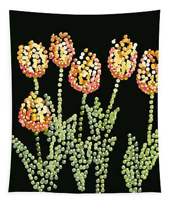 Tulips Bedazzled Tapestry