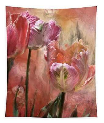 Tulips - Colors Of Love Tapestry