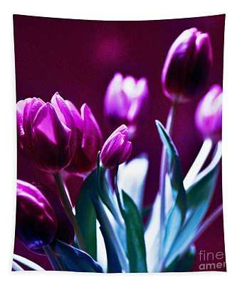 Purple Tulips Tapestry