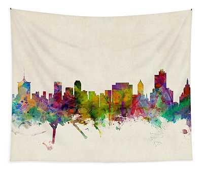 Tulsa Oklahoma Skyline Tapestry