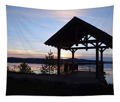 Tupper Lake Sunset Over Raquette Pond Tapestry