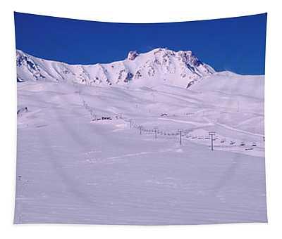 Turkey, Ski Resort On Mt Erciyes Tapestry