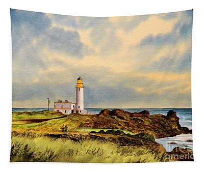 Turnberry Golf Course 9th Tee Tapestry