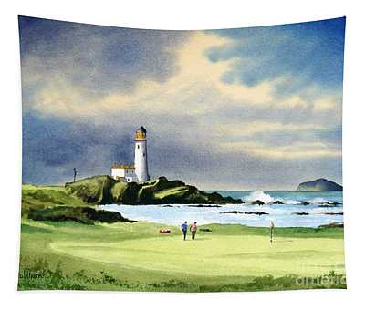 Turnberry Golf Course Scotland 10th Green Tapestry