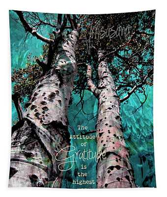 Turquois Trees  Tapestry