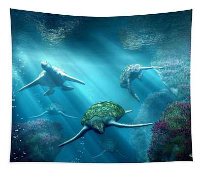 Turtle Alley Tapestry
