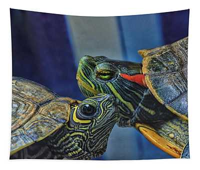 Turtle Blues Tapestry