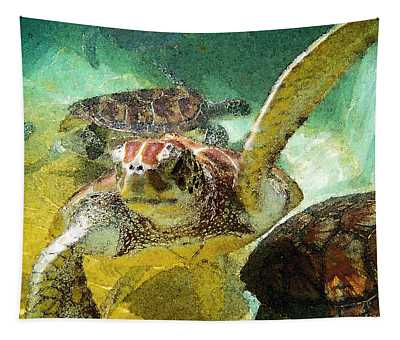 Turtle Swim Tapestry