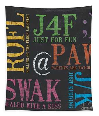 Tween Textspeak 1 Tapestry
