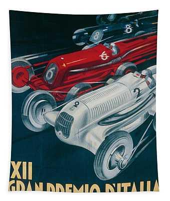 Twelfth Italian Grand Prix At Monza Tapestry