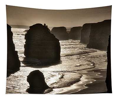 Twelve Apostles #3 - Black And White Tapestry