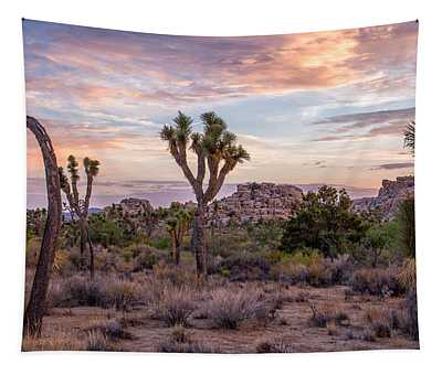 Twilight Comes To Joshua Tree Tapestry