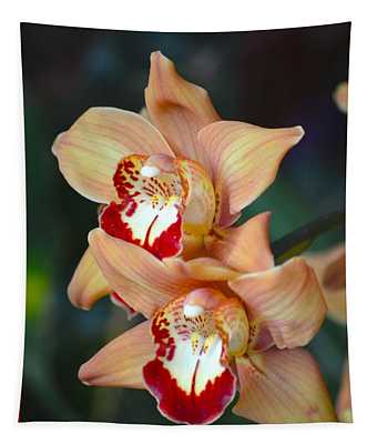 Twin Orchid  Bloom Tapestry