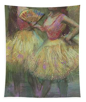 Two Dancers Before Going On Stage Tapestry