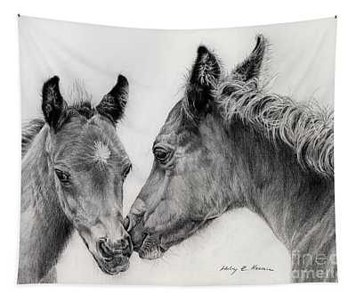 Two Foals Tapestry