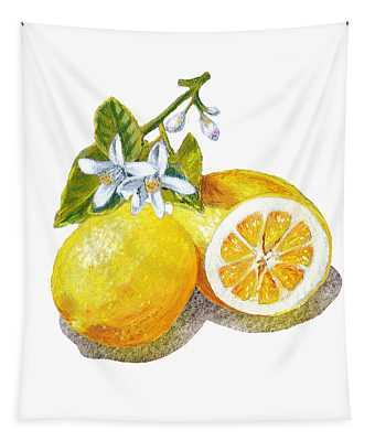 Two Happy Lemons Tapestry