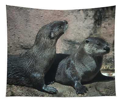 Two Otters Tapestry