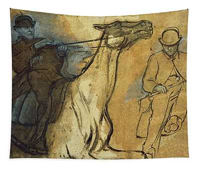 Two Studies Of Riders Tapestry