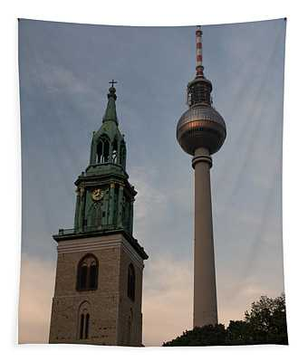 Two Towers In Berlin Tapestry