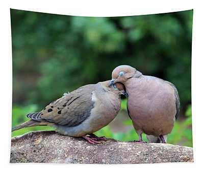 Two Turtle Doves Tapestry