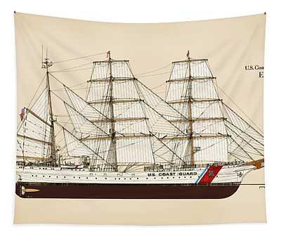 U. S. Coast Guard Cutter Eagle - Color Tapestry