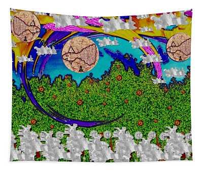 Asian Food Mixed Media Wall Tapestries