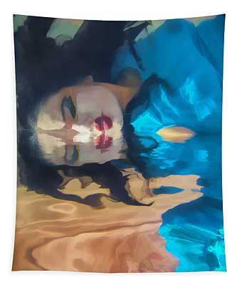 Underwater Geisha Abstract 1 Tapestry