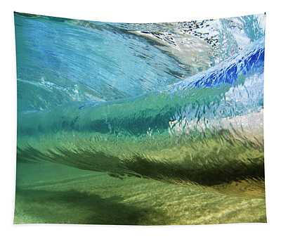 Underwater Wave Curl Tapestry