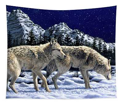 Wolves - Unfamiliar Territory Tapestry